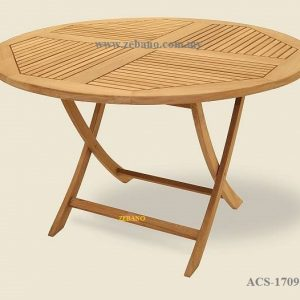 Foldable Round Teak Wood Table ACS-1709