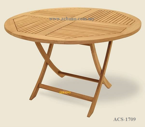 Foldable Round Teak Wood Table ACS-1709