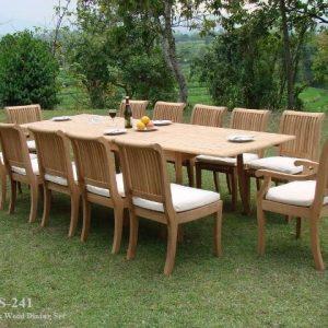Large Teak Wood Dining Set Supplier DS-241
