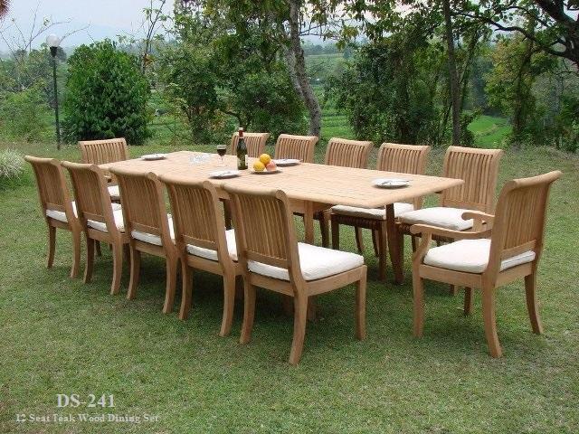 Large teak wood dining set supplier