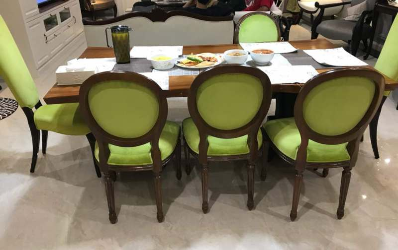 Louis Dining Chair Parrot Green