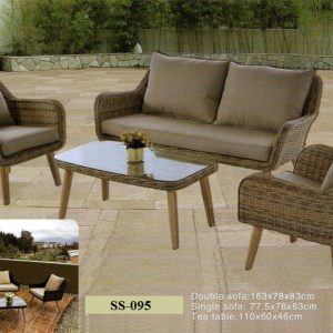 Patio Wicker Rattan Sofa Set SS-095