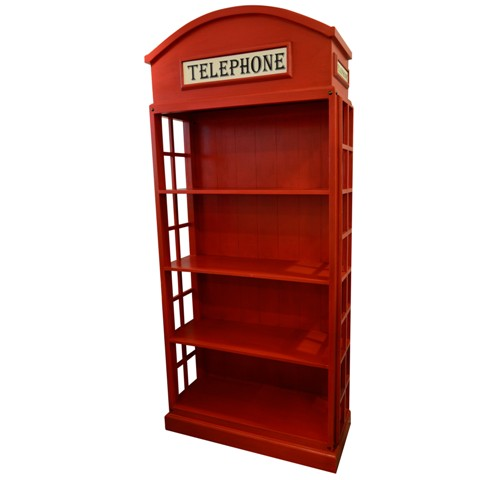 Phone Booth Book Shelf