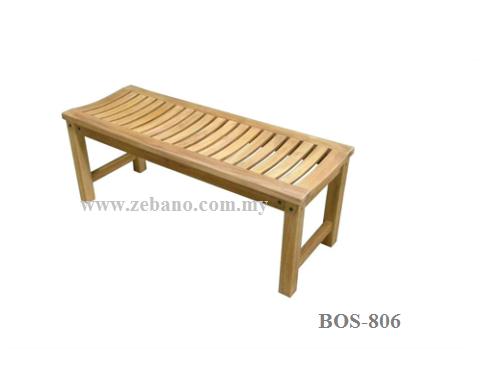 Platform Teak Wood Bench BOS-806