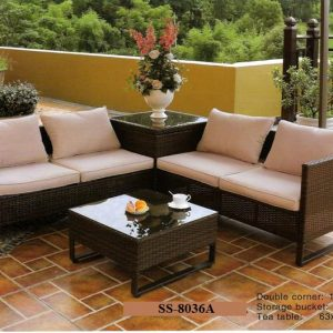 Sectional Wicker Corner Sofa SS-8036A