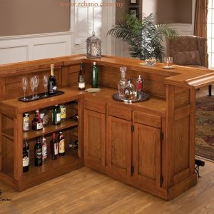 Teak Bar Cabinets Custom Make BS-506