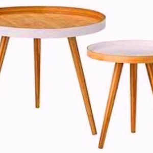Teak Side Tables Round