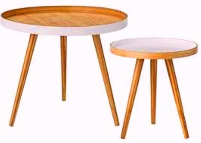Teak Side tables round