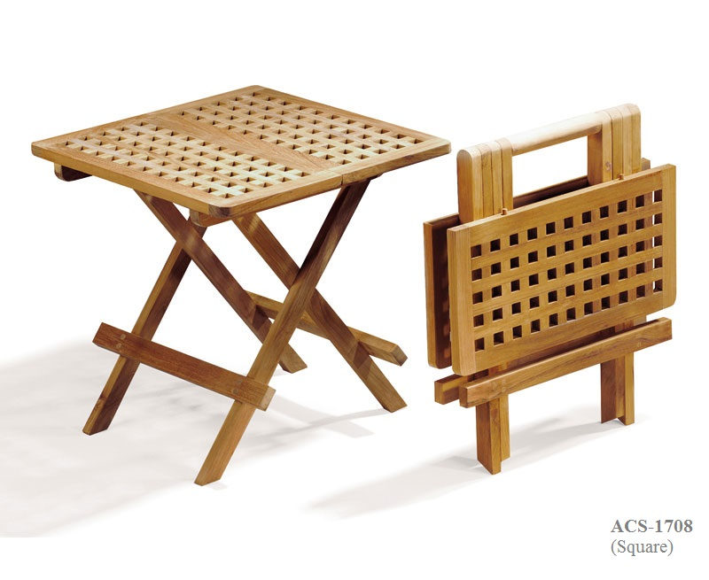 Teak folding picnic table (1)