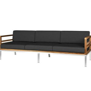 Teak Sofa With Stainless Steel Frame Zebano