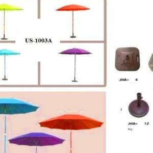 UBeach Center Pole Mushroom Design UmbrellaS 1003G 270CM WITH BASE