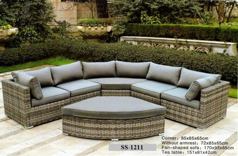 wicker round corner l shape sofa outdoor patio sofa outdoor deck sofa. Black Bedroom Furniture Sets. Home Design Ideas
