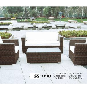 Outdoor Wicker Sofa Zebano SS-090