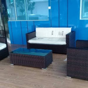 Zebano Outdoor Wicker Sofa Set SS 090
