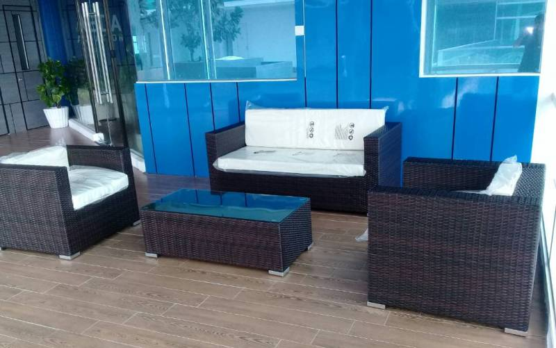 Zebano outdoor wicker sofa set SS-090