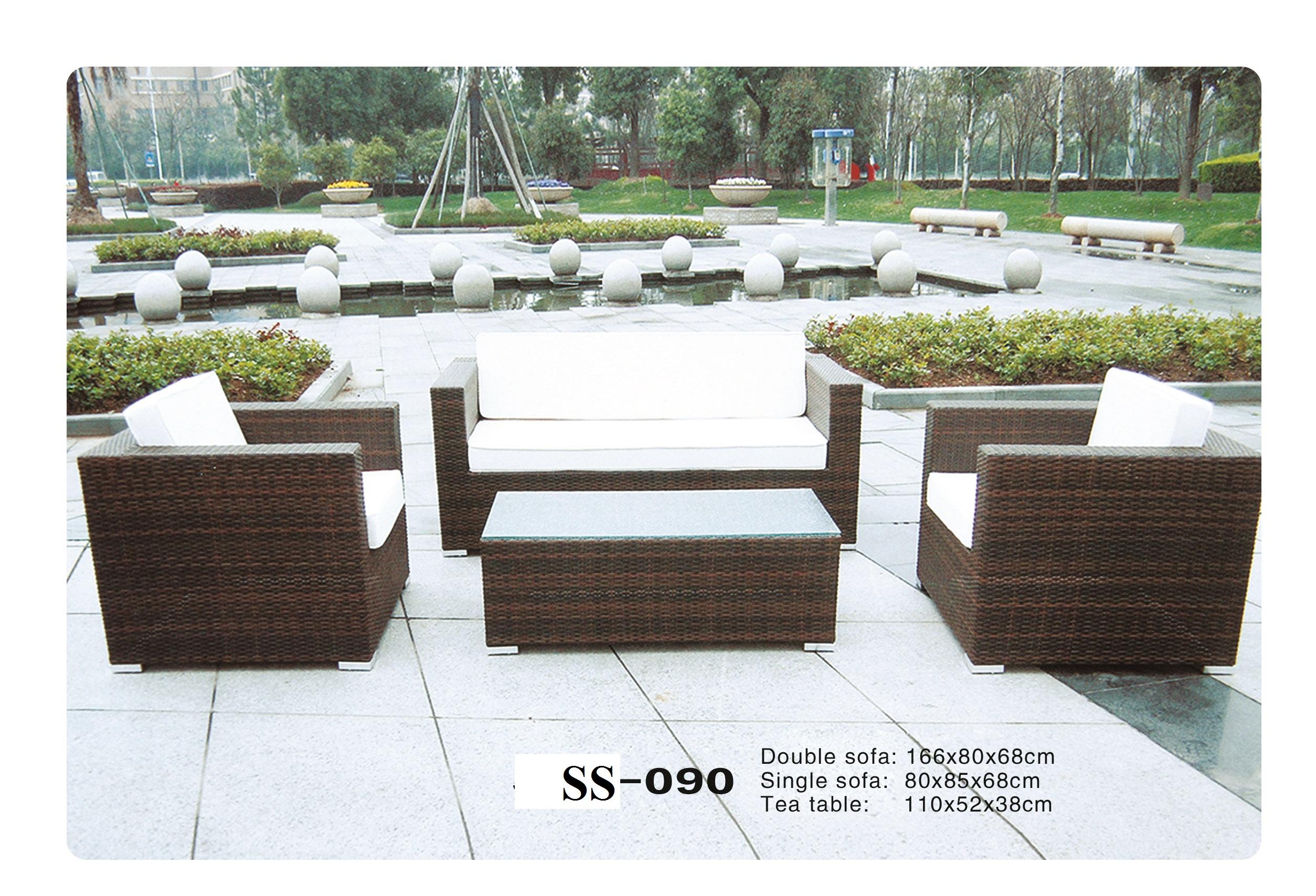 Outdoor wicker sofa Zebano SS-090