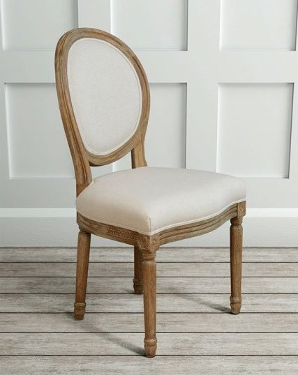 French Louis dining chair ovel back