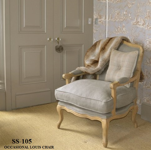 Occasional French Style Louis Chair Zebano