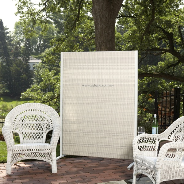 outdoor wicker divider partition