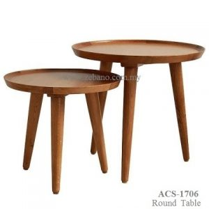 Teak Side Tables Round ACS-1706