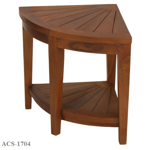 Zebano-Corner-Spa-Stool-in-Solid-Teak-Wood ACS-1704