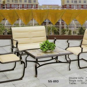 Cast Aluminum Outdoor Sofa SS-093