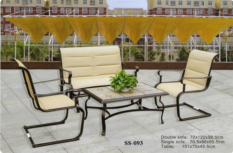 Cast Aluminum Outdoor Sofa SS-093