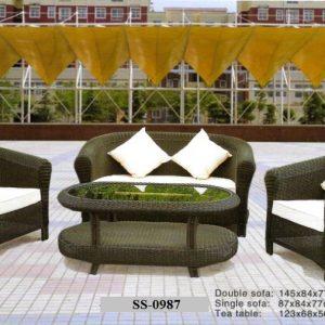 Rattan Classic Wicker Sofa SS-0987