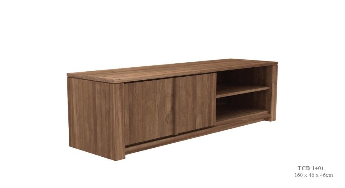 Teak Lodge TV Cupboard 2 Doors—160x46x46 Cm Zebano (2)
