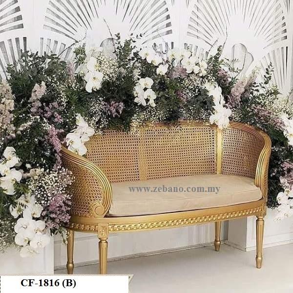 Wedding Classic Golden Sofa Cf 1816(B)