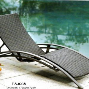 Wicker Pool Deck Lounger LS-0238
