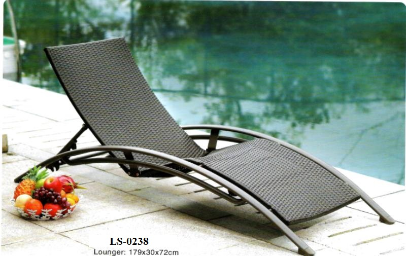 Wicker Pool Deck Lounger Sun Lounger Deck Lounge Chair