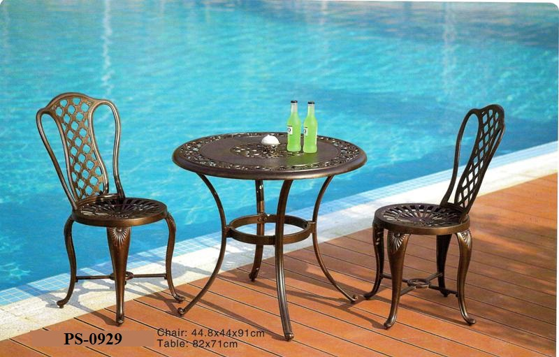 Cast Aluminum Pool Deck Dining Set PS-0929
