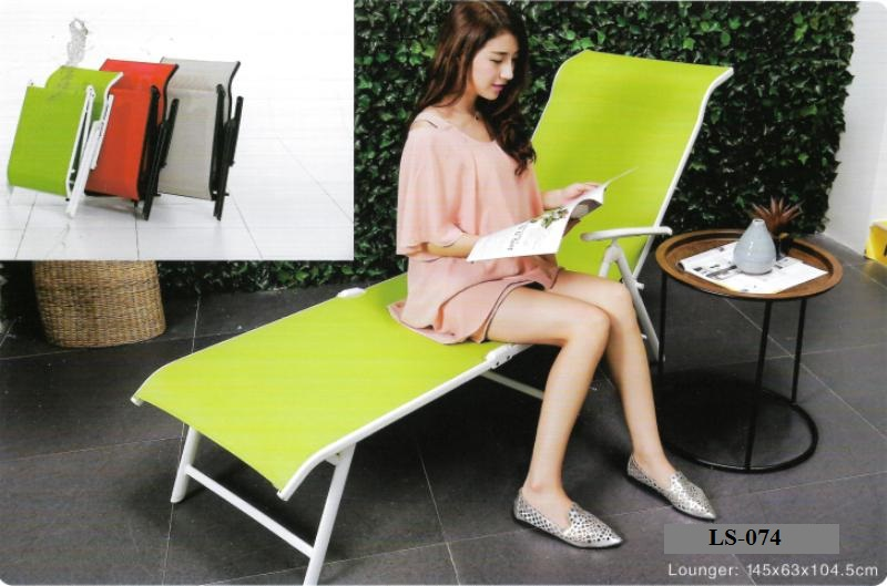 Foldable deck lounge chair