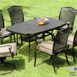 Outdoor Cast Aluminum Dining Furniture DS-614