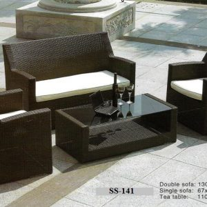 Outdoor Rattan Pool Deck Sofa SS-141