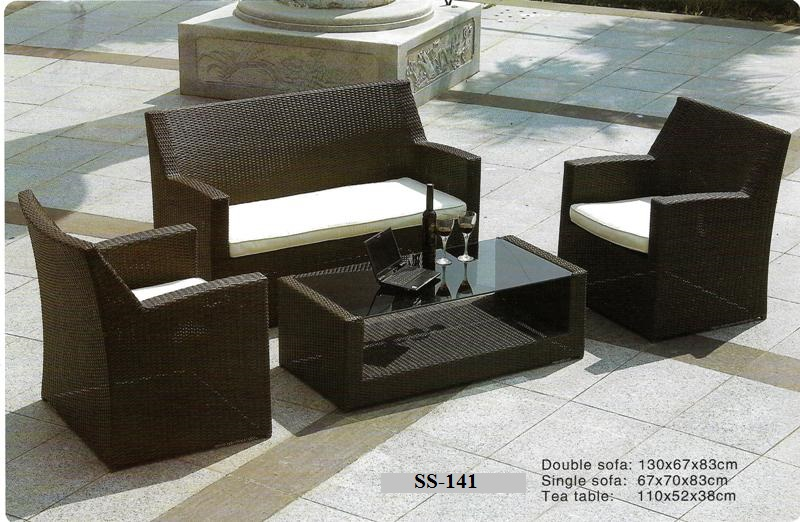 Outdoor Rattan Pool Deck Sofa SS-141