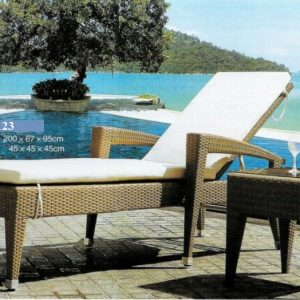 Outdoor Wicker Pool Lounger LS-T123