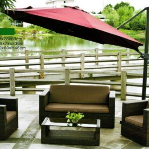 Outdoor Wicker Sofa Set SS-0904