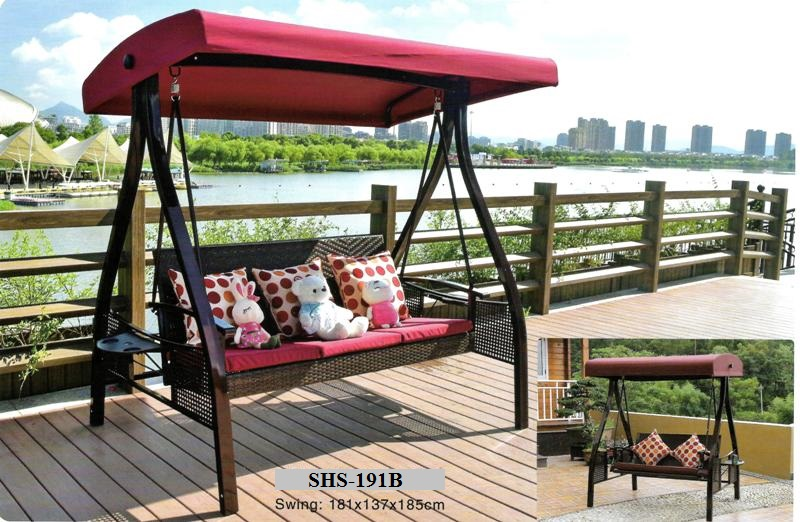 Rattan 3 Seater Outdoor Swing SHS-191B
