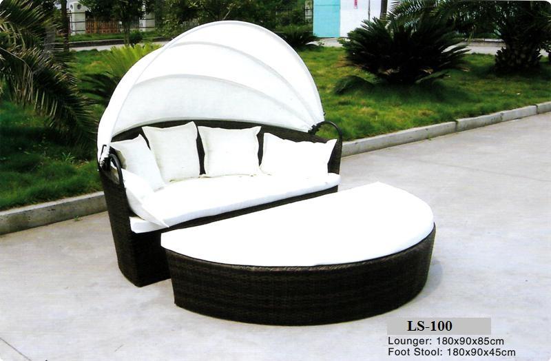 Rattan Deck Lounge Sofa LS-100