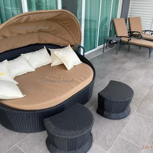 Wicker Day Bed For Balcony LS 096 Zebano Day Beds (1)