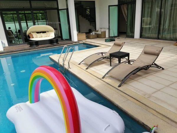 Zebano pool sun lounger & day beds