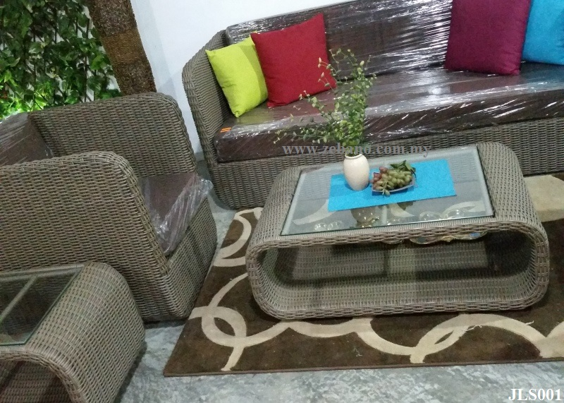 indoor wicker rattan sofa set JL001 (1)