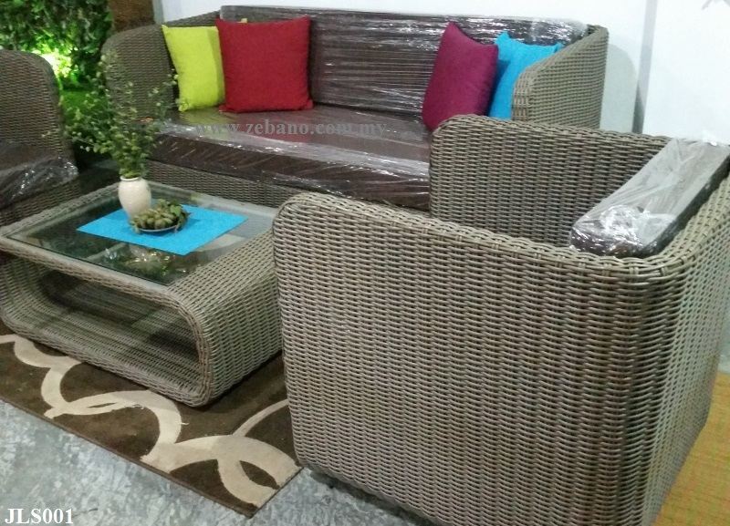 indoor wicker rattan sofa set JL001 (2)