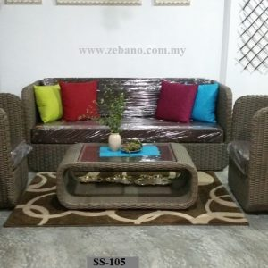 Indoor Wicker Rattan Sofa Set SS-105