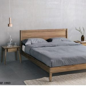 Vintage Bed Frame Super Single From Zebano L115 D200 H80 Cm (2)