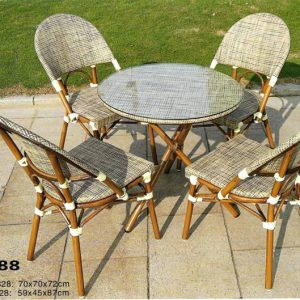 Batyline Outdoor Dining Chair And Table  DS-788