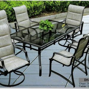Comfy Cast Aluminum Dining Chair And Table DS-323