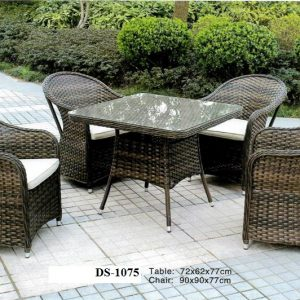 Deck Rattan Table & Chair DS-1075